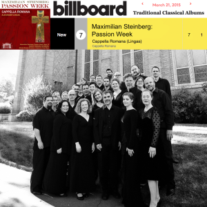Maximilian Steinberg Passion Week Billboard Charts
