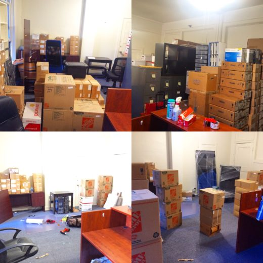 The old office, as the boxes disappeared on moving day!